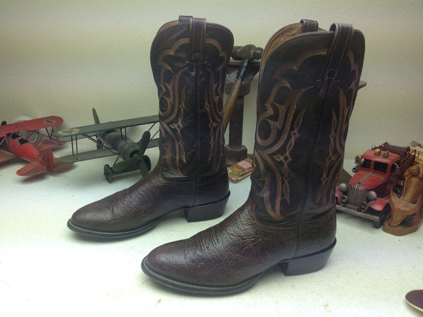 Nocona Hecho En Usa Marrón Western Cowboy Ingeniero Trail Boss botas 10,5 D