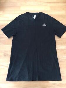 Adidas Noir Sport T-shirt (taille M)-afficher Le Titre D'origine