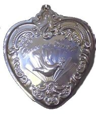 2000 Wallace Heart with Peace Dove Sterling Christmas Ornament 8th Edition