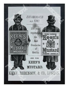 Historic-Keen-039-s-Mustard-Advertising-Postcard