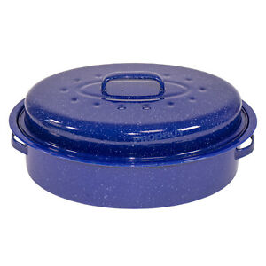 Large-4-5-Litre-Oval-Self-Basting-Roasting-Tin-Dish-Roaster-with-Lid-Oven-Tray