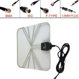 Car-TV-Digital-DVB-T-FM-Antenna-Aerial-Amplifier-Booster-SMA-Plug-Connector