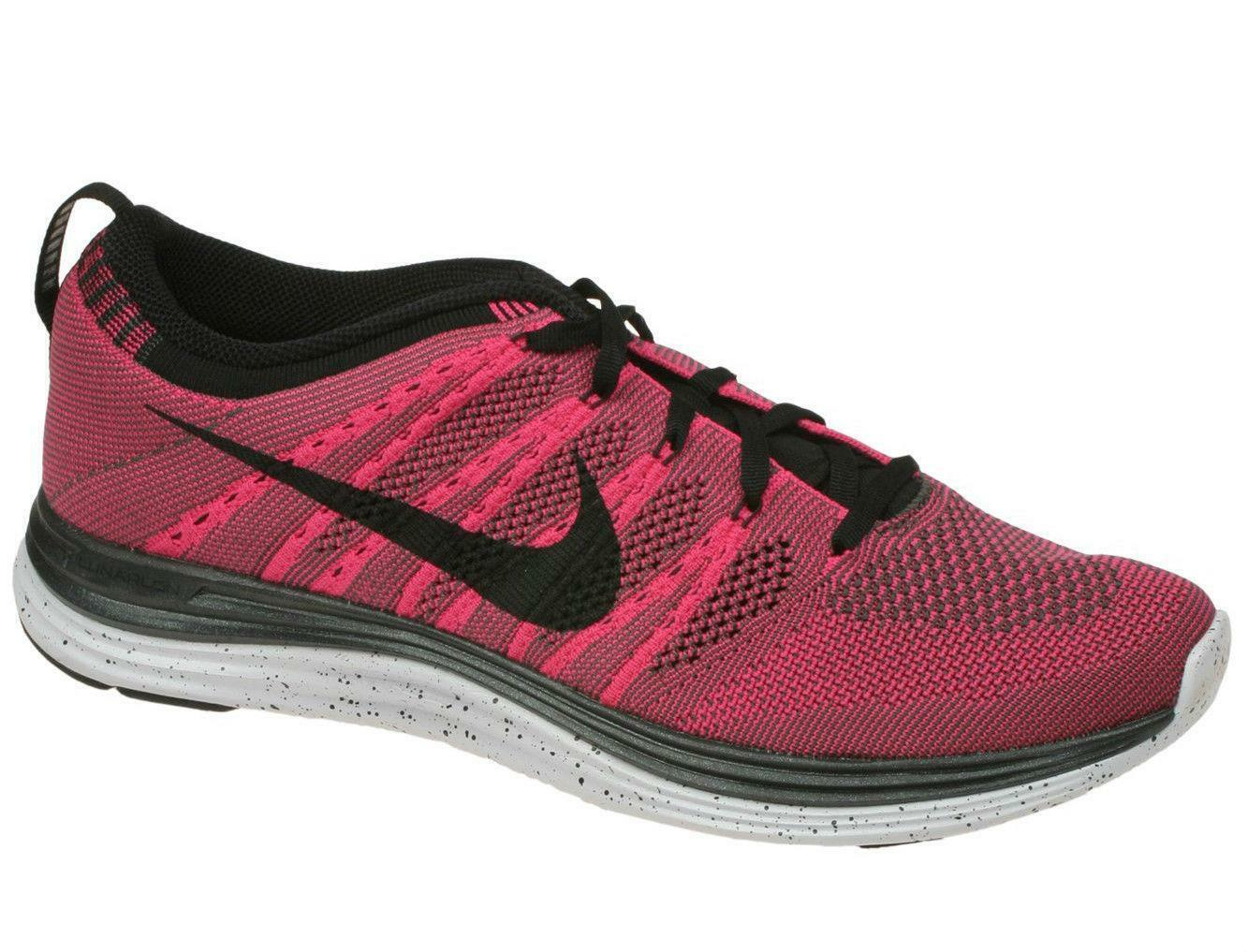 Mens NIKE FLYKNIT ONE+ Pink Lightweight Running Trainers 554887 600