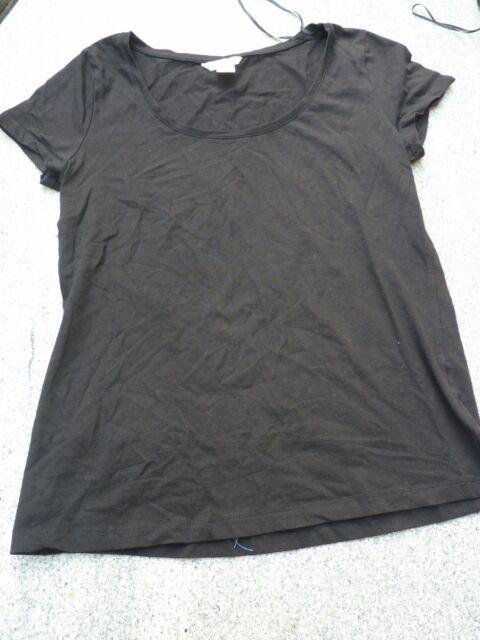 Basis Shirt von H&M in schwarz Stretchanteil Gr. M