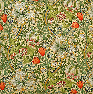 William Morris Golden Lily Lined Curtains - Various Sizes