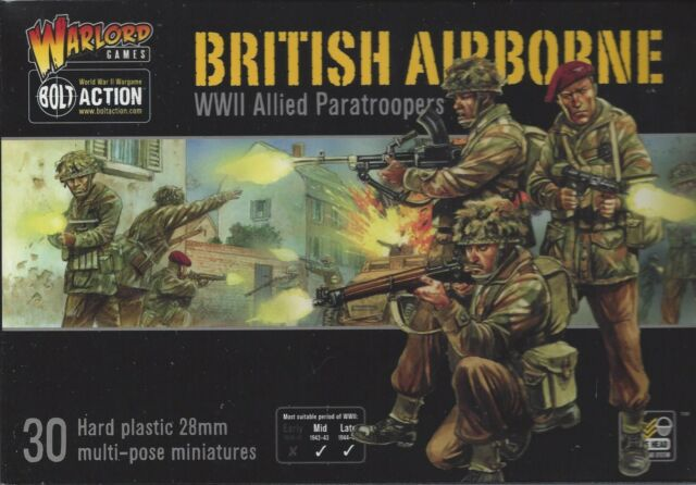 Bolt Action WW2 British Airborne Allied Paratroopers  NIB  NEW Warlord Games