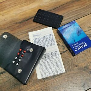 Vintage-Travel-Cribbage-Game-Pouch-with-Pegs-Cards-Folding-Board