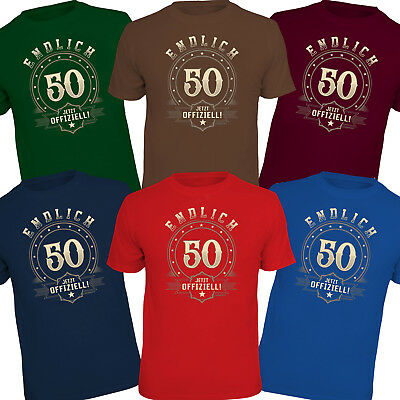 Fun T-Shirt  Shirts zum 50 Geburtstag Geschenke 50 50ster Party Fünfzigsten