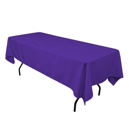 """6 pack 60/""""×102/"""" Seamless 100/% Polyester rectangular Tablecloth 25 COLOR Catering"""