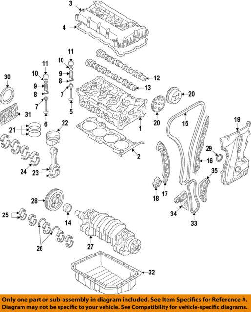 oem engine connecting rod bearings pair standard size for hyundai rh ebay com PT Cruiser Wheel Bearing Diagram Bearing Direction Diagram