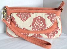 Nikita Lynn Womens Wristlet Orange Fabric Clutch Purse Handbag Envelope Bag