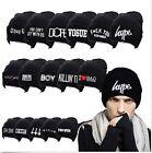 Women's Men's Hat Unisex Warm Winter Knit Fashion Cap Hip-hop Beanie Hats Black