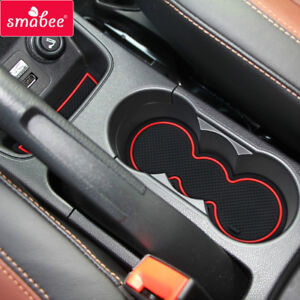 for Ford Fiesta MK VI 2008-2015 Gate slot mats Accessories,3D Rubber ...