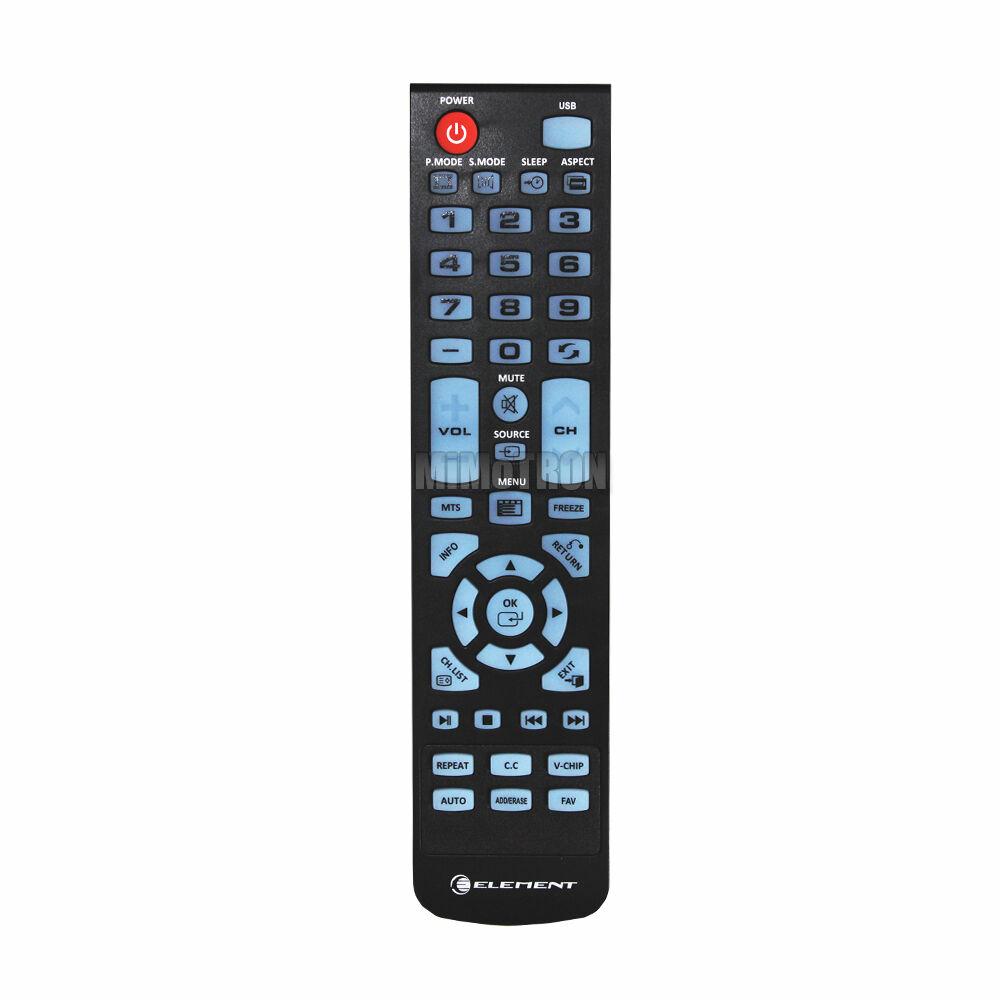 XHY353-3  GENUINE ELEMENT XHY353-3 TV REMOTE CONTROL ELEFW504A ELEFW247 ELEFW328 (USED)