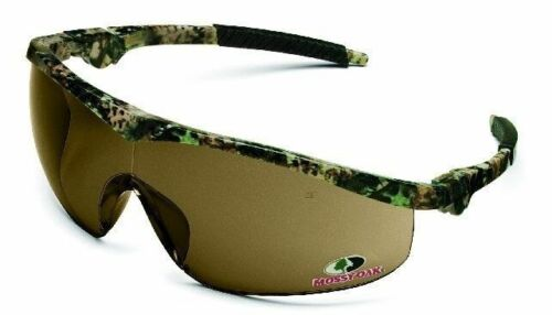 Crews Storm Safety Glasses with Mossy Oak Frame and Brown Lens ANSI Z87