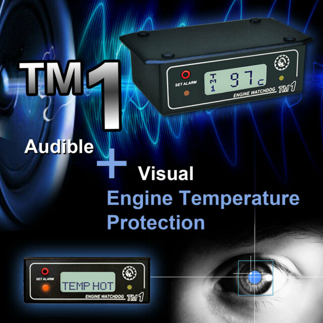 ENGINE BLOCK & HEAD TEMPERATURE ALARM with HI TEMP RECORDER - TM1