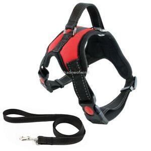 Dog-Harness-and-Leash-Set-Medium-Dogs-Heavy-Duty-No-Pull-Reflective-Nylon-2PCS
