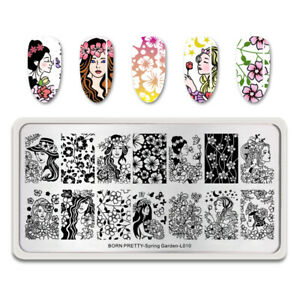 BORN-PRETTY-Nail-Art-Stamping-Plates-Flower-Nail-Stamp-Plate-Spring-Garden-L010