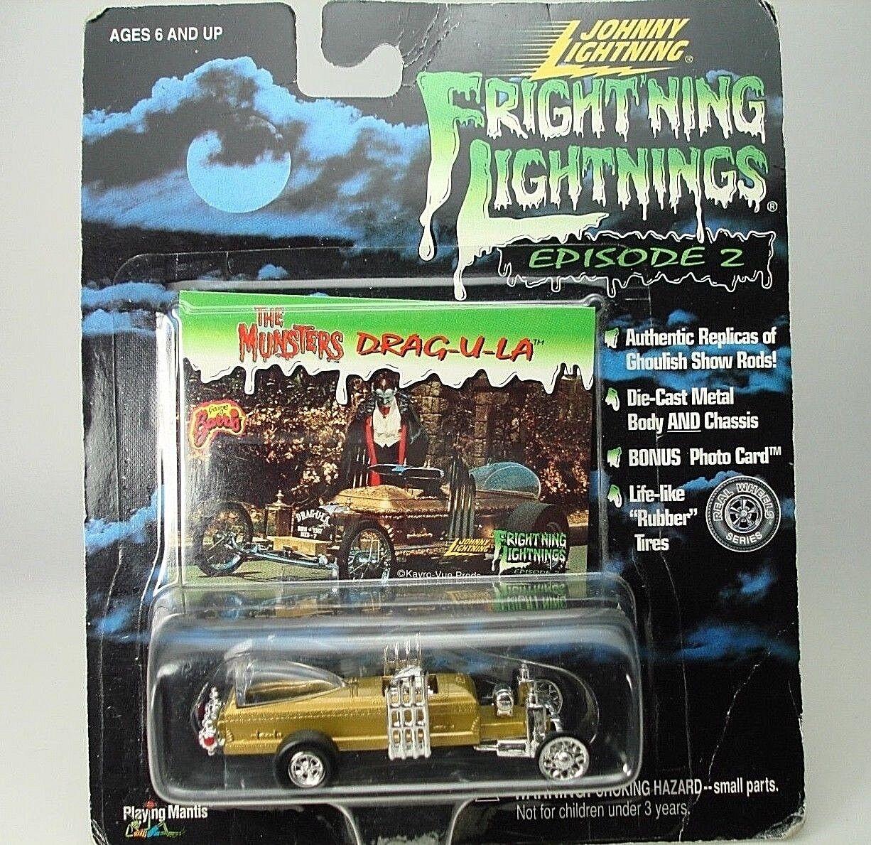 Johnny Lightning Lightning Lightning  Frightning Lightning Munsters Drag-u-la Photo Card dbab28