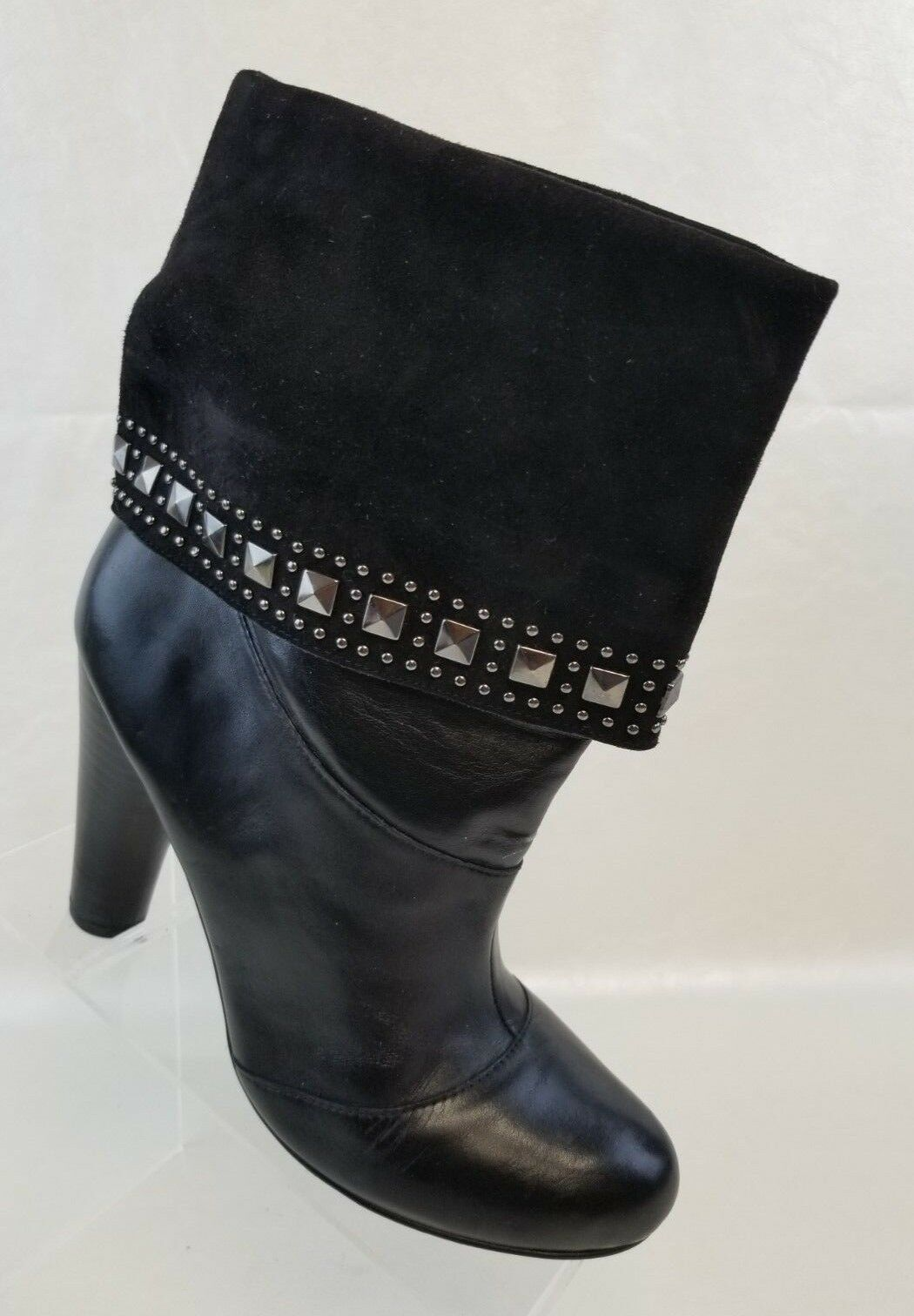 Very Volatile Ankle Ankle Ankle Boots Ashbury Cuff Studded Womens Black Leather Pull On 10 44c250
