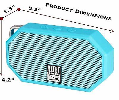 Black Altec Lansing IMW257 Mini H2O Wireless Bluetooth Waterproof Speaker