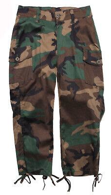 Rothco 1040 Woodland Camouflage Women/'s Capri Pants army bdu  cargo 1-2 TO 19-20