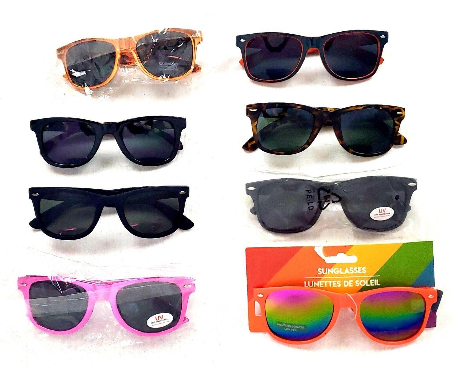 Adult Unisex Fashion Sunglasses Lot Of 8 Assorted Wayfare Style & Color/Designs