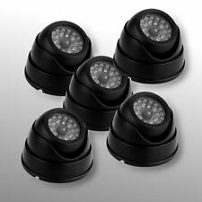 5 x Fake Dummy CCTV Dome Security Camera Flashing LED Indoor Outdoor Warning