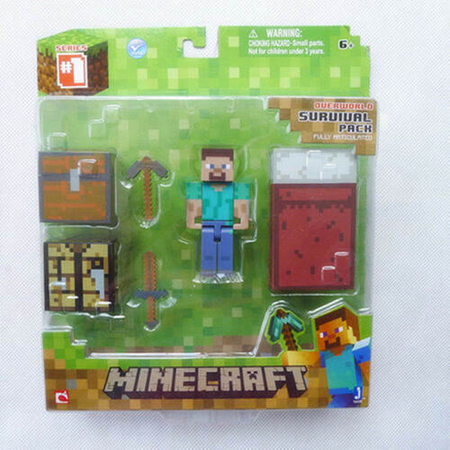 1 of 1 - Brand New Minecraft Overworld Survival Pack Steve By Jazwares