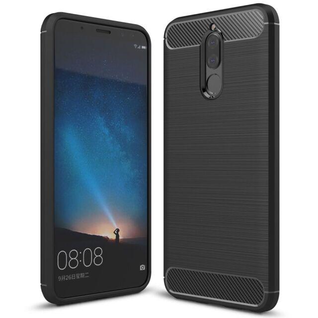 Huawei Mate 10 Lite Handy Hülle von NALIA, Carbon Look Silikon Cover Case Schutz