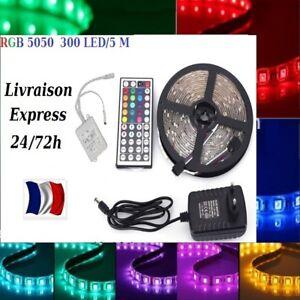1-a-30-m-Bande-LED-Strip-flexible-RGB-Lumiere-Ruban-5050-SMD-Strips-livre-48-h