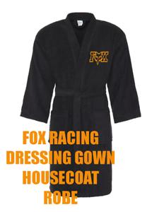 Fox Racing ** logo brodé ** noir robe de chambre robe de chambre pyjama peignoir