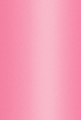 20 A4 300gsm ACID FREE, PEARL CARD, IN PERSIAN PINK SINGLE SIDED.