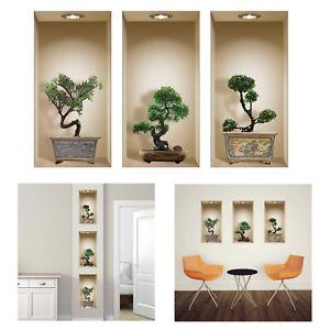 Image Is Loading Nisha 3D Bonsai Vinyl Decorative Wall Art 3