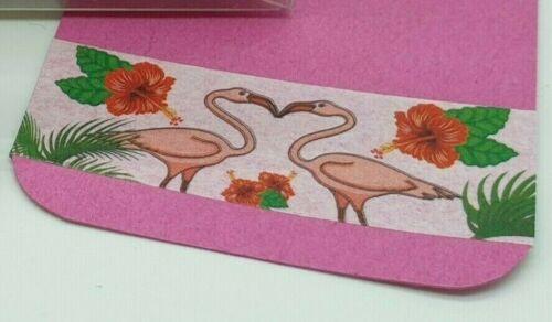 flamencos animales Washi Cinta de enmascarar artesanías recortes 10m X 15mm Flamingo