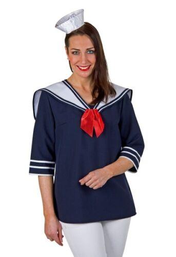 Damen Kostüm Matrose Bluse Kragen Karneval Fasching FM