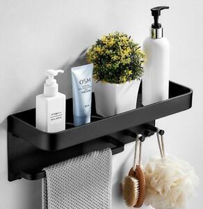 Bathroom-Accessories-Black-Towel-Bar-Robe-Rack-Shower-Caddy-Hook-Storage-Rack