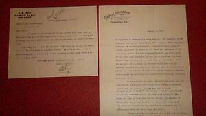 EUFAULA INDIAN TERRITORY - 2 1908 Letterheads - Major Breckenridge