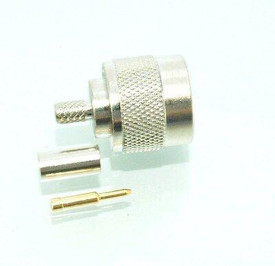 4 pcs Connector N male plug pin crimp for RG58 RG142 LMR195 RF COAXIAL E6301 USA