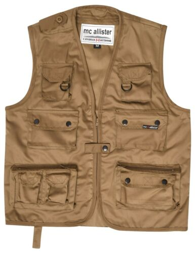 Hunting Fishing Vest Outdoor Trekking Vest mulltifunktionsweste Black Olive Brown