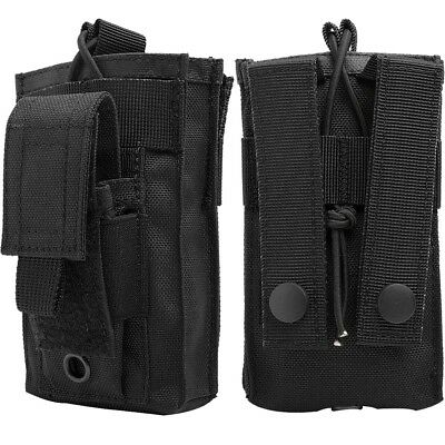 Molle Clip Holster Single Magazine Pouch Airsoft Tactical Mag Belt Holder Bag