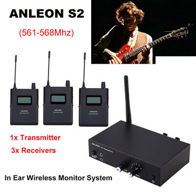 R 1pair ANLEON S2 UHF Stereo IEM Wireless IJn-Ear Monitor Monitor 561-568MHz T