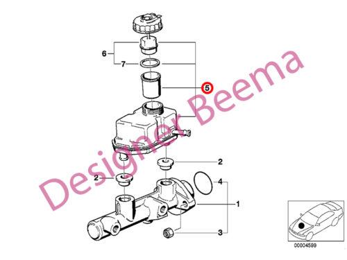 BMW X5 E53 Brake Mater Cylinder Reservoir Expansion Tank JS