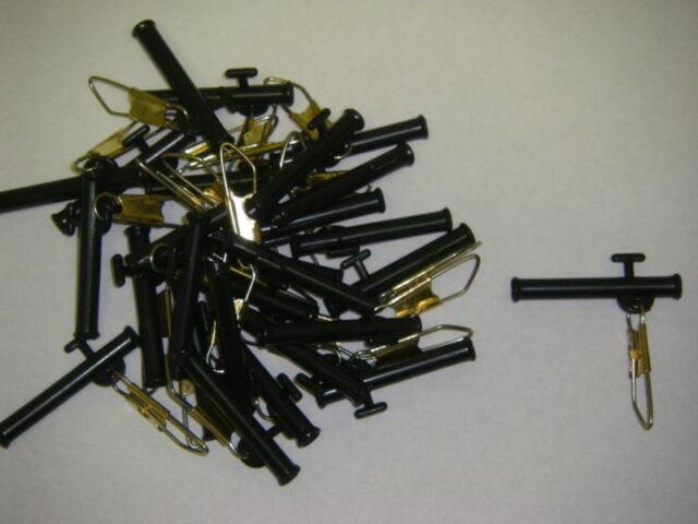 """Sinker Slides 100 Pk 1.5/"""" 1 1//2/"""" Black Slide Slip Sinker Bulk Pack Wholesale Lot"""