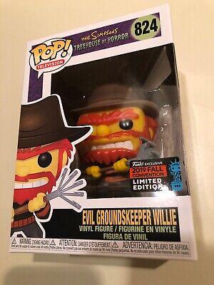 NYCC 2019 US Exclusive P The Simpsons Evil Groundskeeper Willie POP Vinyl