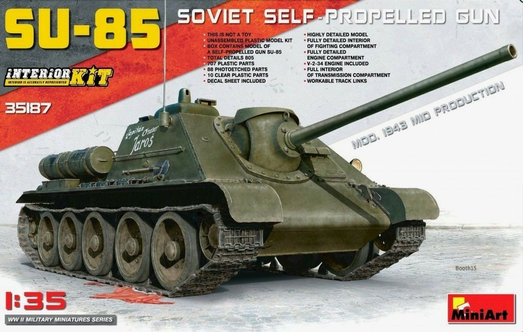 Miniart 1 35 SU-85 Mid Production Soviet SPG Tank With Full Interior Model Kit