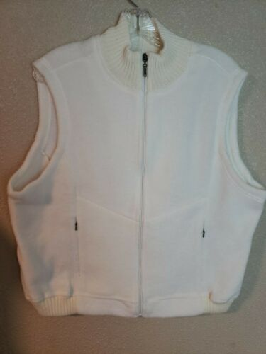 Catalina Women's White Zipper Faux Fur Vest Size L