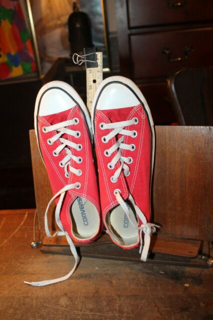 Converse Lace-Up Low Canvas Casual Shoes Men 6 Red