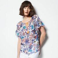 Milly For Designation Floral Peasant Top Sizes S,xl;new &
