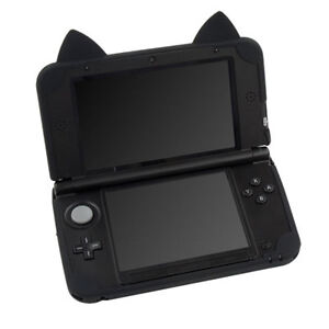 sneakers for cheap 18594 c7da0 Details about Cat Neko Nyan Silicon Case Cover For Old Nintendo 3DS LL XL  black